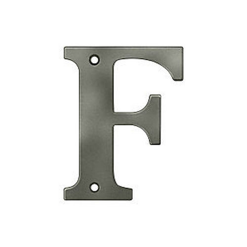 Deltana RL4F-15A Residential Letter F, Antique Nickel (Each)