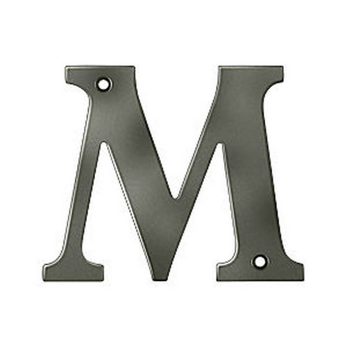 Deltana RL4M-15A Residential Letter M, Antique Nickel (Each)