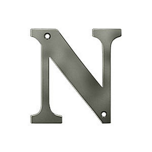 Deltana RL4N-15A Residential Letter N, Antique Nickel (Each)