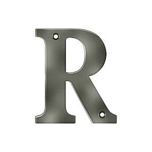 Deltana RL4R-15A Residential Letter R, Antique Nickel (Each)