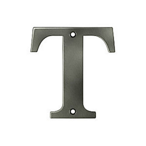 Deltana RL4T-15A Residential Letter T, Antique Nickel (Each)