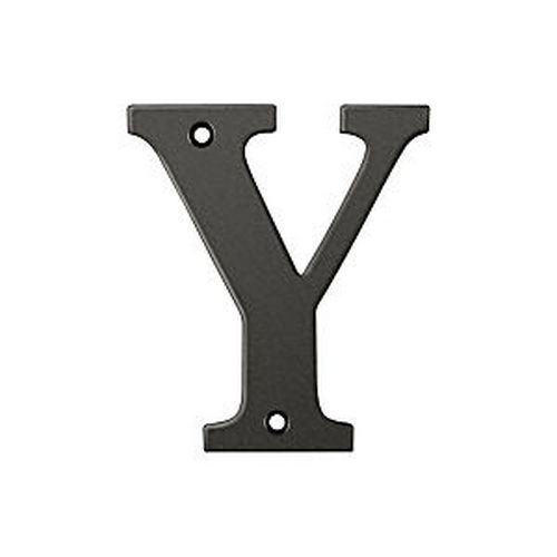 Deltana RL4Y-10B Residential Letter Y, Oil Rubbed Bronze (Each)