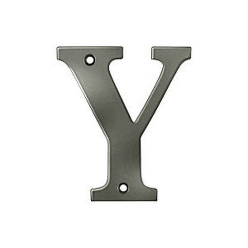Deltana RL4Y-15A Residential Letter Y, Antique Nickel (Each)