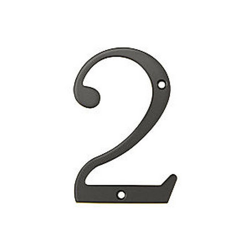 Deltana RN4-2U10B House Number 2, Oil Rubbed Bronze (Each)