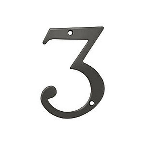Deltana RN4-3U10B House Number 3, Oil Rubbed Bronze (Each)