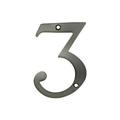 Deltana RN4-3U15A House Number 3, Antique Nickel (Each)