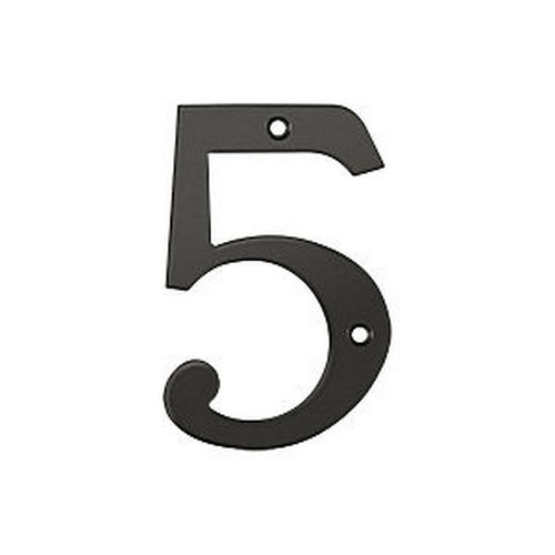 Deltana RN4-5U10B House Number 5, Oil Rubbed Bronze (Each)