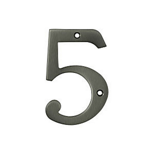 Deltana RN4-5U15A House Number 5, Antique Nickel (Each)