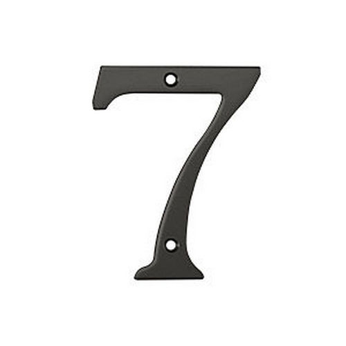 Deltana RN4-7U10B House Number 7, Oil Rubbed Bronze (Each)