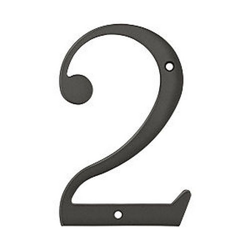 Deltana RN6-2U10B House Number 2, Oil Rubbed Bronze (Each)
