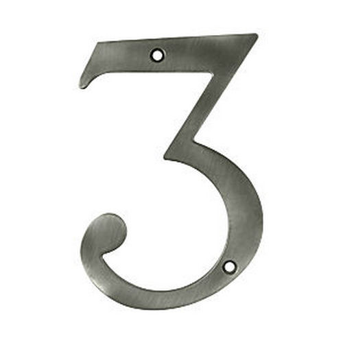 Deltana RN6-3U15A House Number 3, Antique Nickel (Each)
