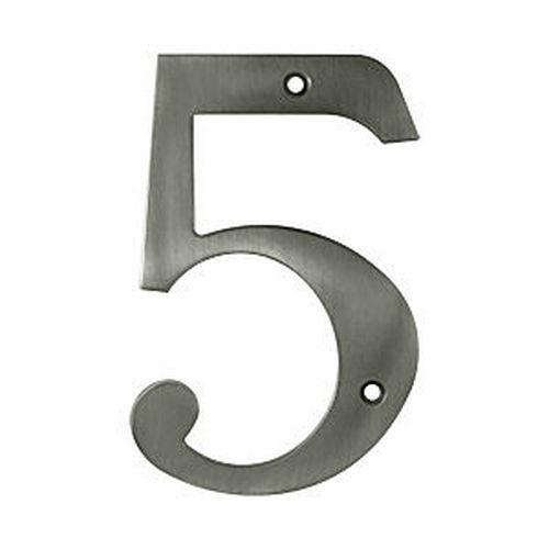 Deltana RN6-5U15A House Number 5, Antique Nickel (Each)