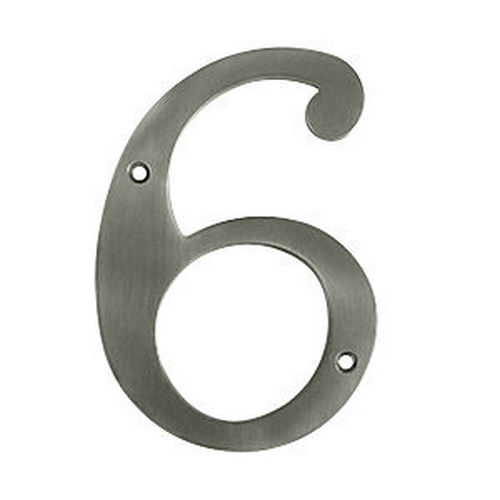Deltana RN6-6U15A House Number 6, Antique Nickel (Each)