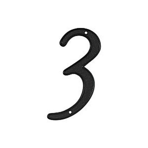 Deltana RNZ4-3 House Number 3, Black (Each)