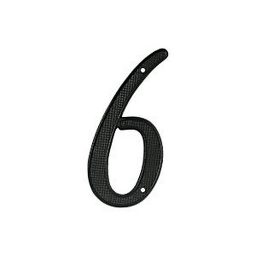 Deltana RNZ4-6 House Number 6, Black (Each)