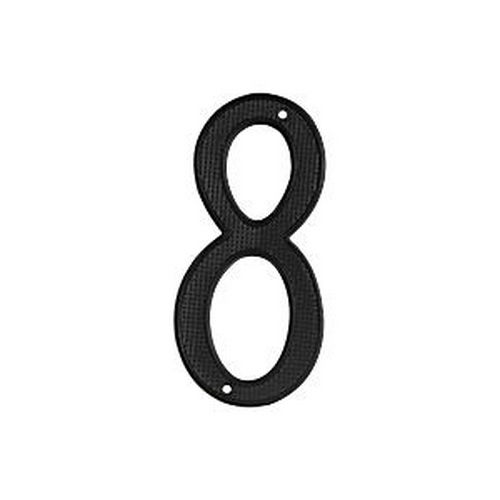 Deltana RNZ4-8 House Number 8, Black (Each)