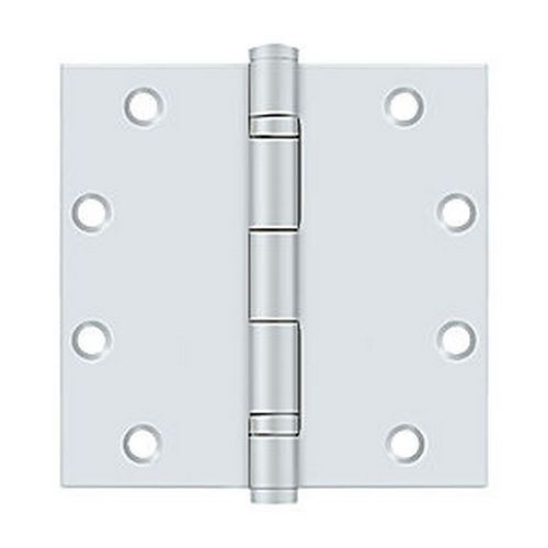 Deltana S55BBUSPW Steel Hinge 5 x 5 Bb, USPW Finish, Pair