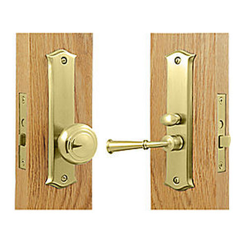 Deltana SDL688U3 Storm Door Latch, Classic, Mortise Lock, Polished Brass (Each)