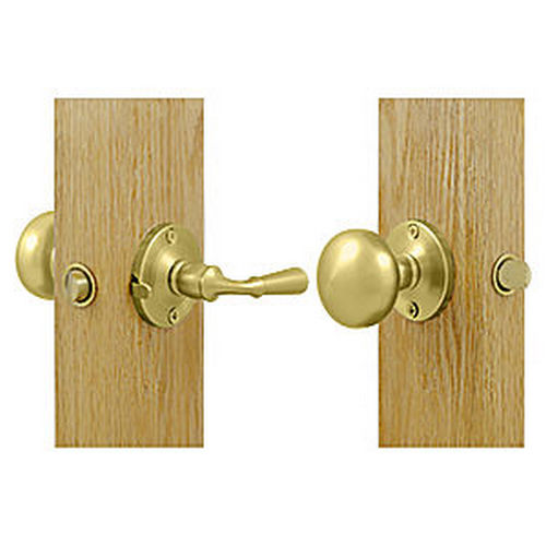 Deltana SDL980U3 Storm Door Latch, Round, Tubular Lock, Polished Brass (Each)