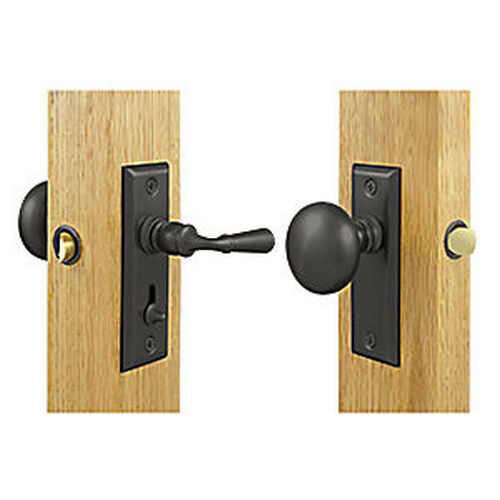 Deltana SDLS480U10B Storm Door Latch, Rectangular, Tubular Lock, Oil Rubbed Bronze (Each)