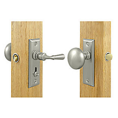Deltana SDLS480U15 Storm Door Latch, Rectangular, Tubular Lock, Satin Nickel (Each)