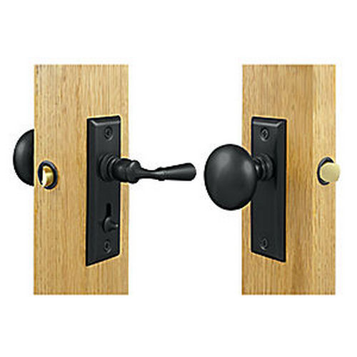 Deltana SDLS480U19 Storm Door Latch, Rectangular, Tubular Lock, Paint Black (Each)