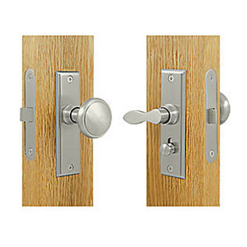 Deltana SDML334U15 Storm Door Latch, Square, Mortise Lock, Satin Nickel (Each)