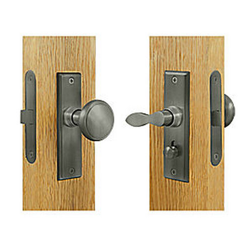 Deltana SDML334U15A Storm Door Latch, Square, Mortise Lock, Antique Nickel (Each)