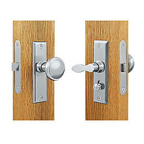 Deltana SDML334U26 Storm Door Latch, Square, Mortise Lock, Chrome (Each)