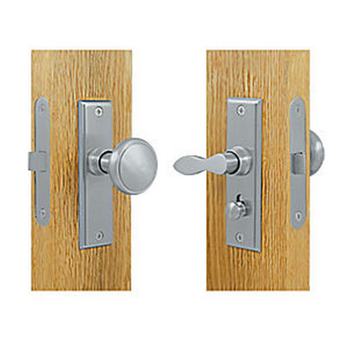 Deltana SDML334U26D Storm Door Latch, Square, Mortise Lock, Brushed Chrome (Each)