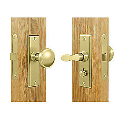 Deltana SDML334U3 Storm Door Latch, Square, Mortise Lock, Polished Brass (Each)