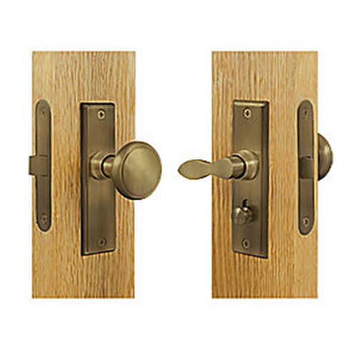 Deltana SDML334U5 Storm Door Latch, Square, Mortise Lock, Antique Brass (Each)