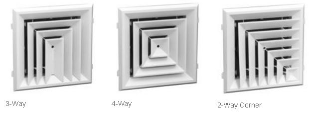 Hart & Cooley REZZIN RZ-Square 4-Way Ceiling Diffuser