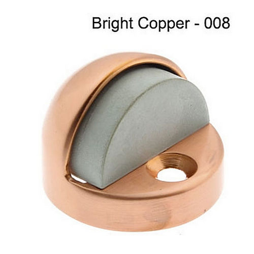 IDH 13070-08A High Dome Stop with Black & Grey Rubber Bumper, Antique Copper