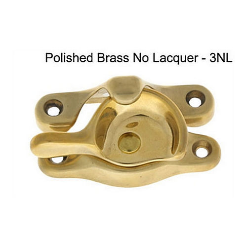 IDH 21019-3NL Large Sash Catch, Polished Brass No Lacquer