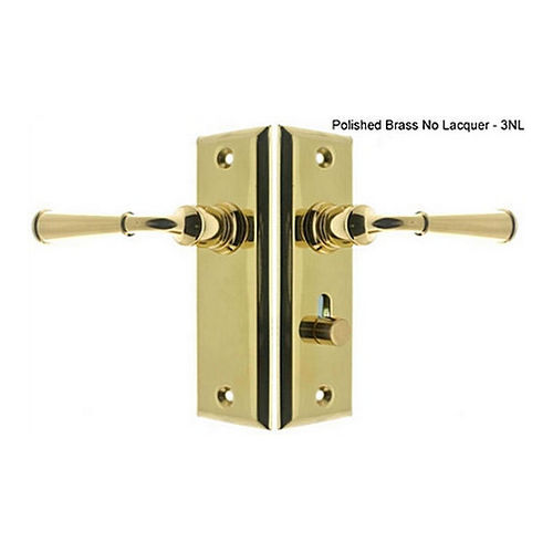 IDH 21262-3NL Rectangular Escutcheon Storm Door Latch (Dual Lever), Polished Brass No Laquer