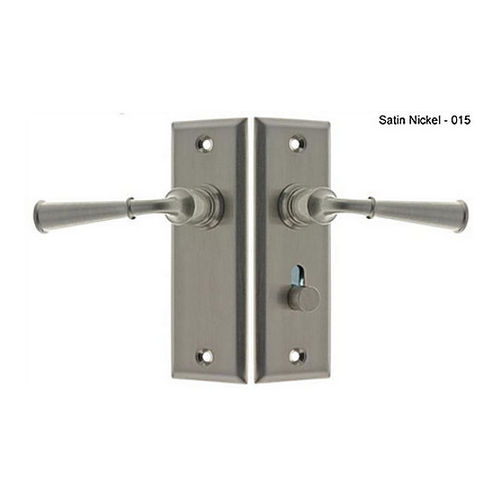 IDH 21262-015 Rectangular Escutcheon Storm Door Latch (Dual Lever), Satin Nickel