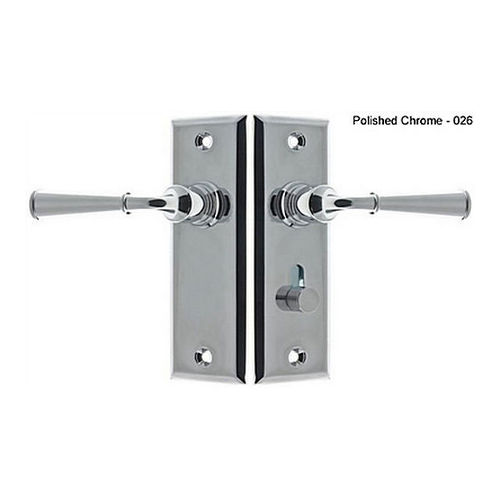 IDH 21262-026 Rectangular Escutcheon Storm Door Latch (Dual Lever), Polished Chrome