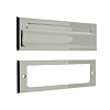 IDH 22110-026 Letter Mail Plate & Open Back Plate, Polished Chrome