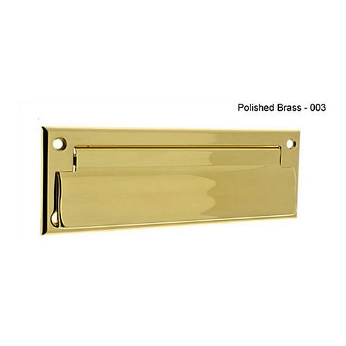IDH 22111-003 Letter Mail Plate Front Only, Polished Brass