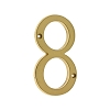 IDH 23028-003 Cast Solid Brass Number: #8, 4