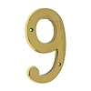 IDH 23209-003 Cast Solid Brass Number: #9, 6