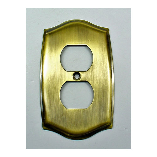 IDH 28034-10B Round Single Receptacle Plate, Oil-Rubbed Bronze