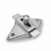 Jacknob 5023 Latch-Slide-Surface Mounted, Stainless Steel