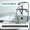 Kingston Brass CCK2671 Vintage Wall Mount Clawfoot Tub And Shower Package, Polished Chrome