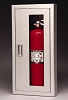 Larsen's FSSS2409RM-VD Flame Shield Architectural Series Stainless Fire Extinguisher Cabinet, Vertical Duo