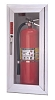 Larsen's SS2409R2-SD Architectural Series Fire Extinguisher Cabinet, Solid Door