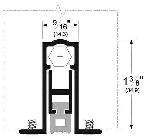 Pemko 411arl36 Door Bottom 36 Quot Mill Aluminum