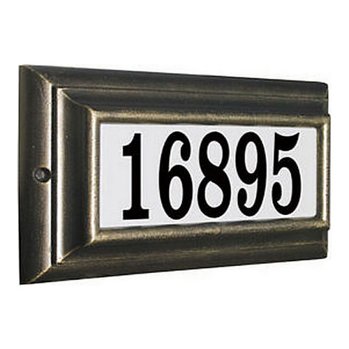 QualArc NU3-1370-FB# French Bronze Cast Aluminum Number 3