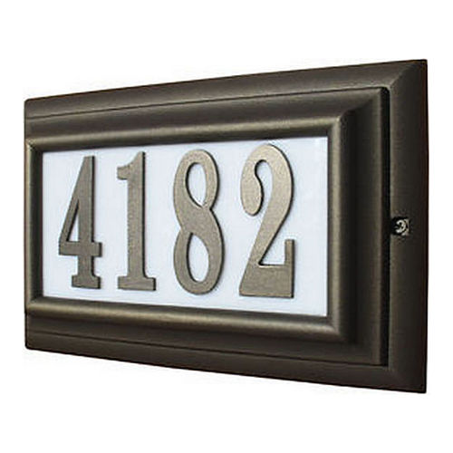 QualArc NU4-1370-BL# Black Cast Aluminum Number 4